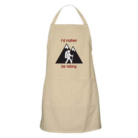 I'd Rather Be Hiking BBQ Apron