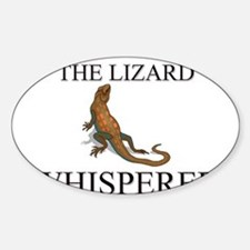 The Lizard Whisperer Oval Decal