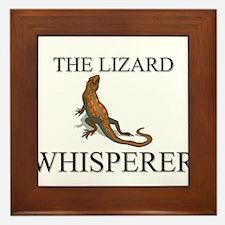 The Lizard Whisperer Framed Tile