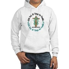 With God Cross OVARIAN CANCER Hoodie