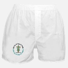 With God Cross OVARIAN CANCER Boxer Shorts
