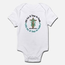 With God Cross OVARIAN CANCER Infant Bodysuit
