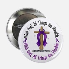 "With God Cross PANCANC 2.25"" Button"