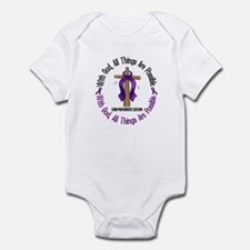 With God Cross PANCANC Infant Bodysuit