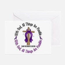 With God Cross PANCANC Greeting Cards (Pk of 20)