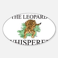 The Leopard Whisperer Oval Decal