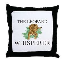 The Leopard Whisperer Throw Pillow