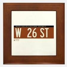 West 26th Street in NY Framed Tile