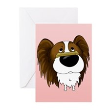 Papillon Valentine's Day Greeting Cards (Pk of 20)