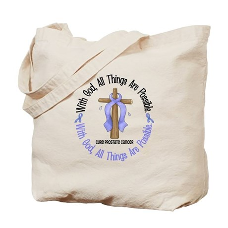 With God Cross PROSCANC Tote Bag