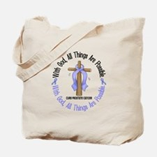 With God Cross PROSCANC Tote Bag