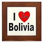 I Love Bolivia Framed Tile