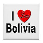 I Love Bolivia Tile Coaster