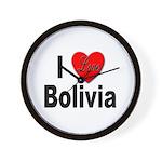 I Love Bolivia Wall Clock