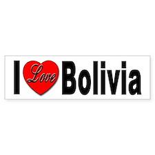 I Love Bolivia Bumper Bumper Sticker