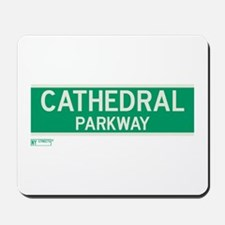 Cathedral Parkway in NY Mousepad