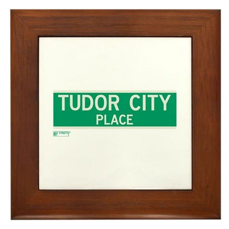 Tudor City Place in NY Framed Tile