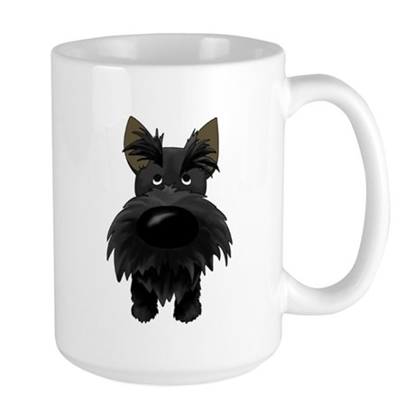 Big Nose/Butt Scottie Large Mug