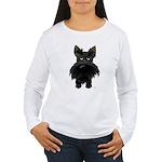 Big Nose/Butt Scottie Women's Long Sleeve T-Shirt