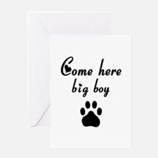 Cougar: Come Here Big Boy Greeting Card