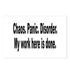 Chaos Panic Disorder Humor Postcards (Package of 8