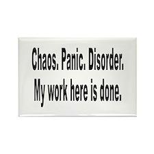 Chaos Panic Disorder Humor Rectangle Magnet (10 pa