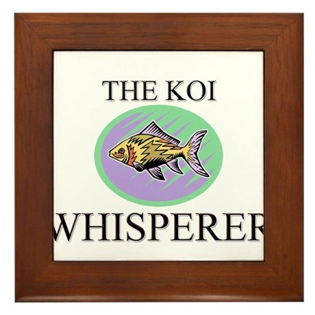 The Koi Whisperer Framed Tile