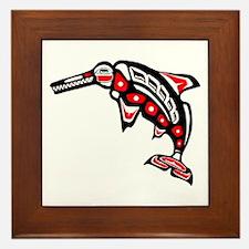 Kwak'wala Ichthyosaur Framed Tile