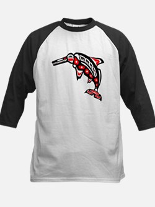 Kwak'wala Ichthyosaur Kids Baseball Jersey