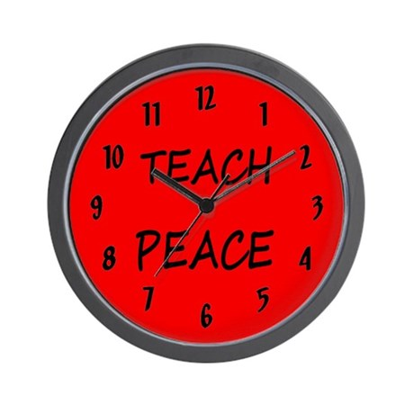TEACH PEACE wall clocks Wall Clock