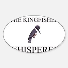 The Kingfisher Whisperer Oval Decal