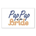 PapPap of the Bride Rectangle Sticker