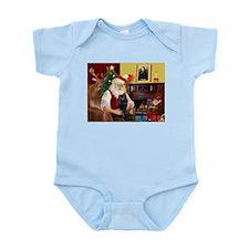 Santa's Schipperke Infant Bodysuit