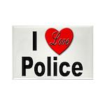 I Love Police Rectangle Magnet (10 pack)