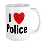 I Love Police Large Mug
