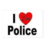 I Love Police Postcards (Package of 8)