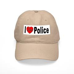 I Love Police Baseball Cap