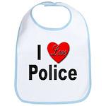I Love Police Bib