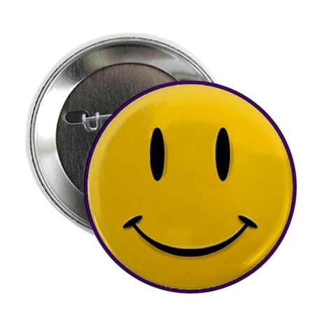 """Happy Face 2.25"""" Button (10 pack)"""