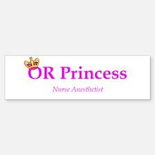 OR Princess CRNA Bumper Bumper Bumper Sticker