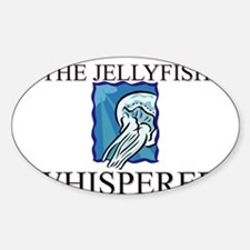 The Jellyfish Whisperer Oval Decal