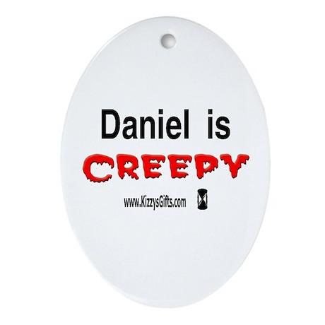 CREEPY DANIEL Oval Ornament