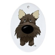 Big Nose Cairn Oval Ornament