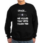 Satellite Space Debris Sweatshirt (dark)