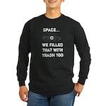 Satellite Space Debris Long Sleeve Dark T-Shirt