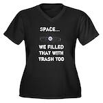 Satellite Space Debris Women's Plus Size V-Neck Da