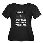 Satellite Space Debris Women's Plus Size Scoop Nec