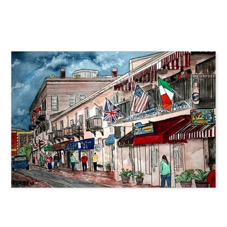 cityscape architecture drawin Postcards (Package o