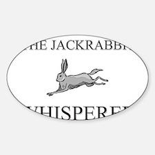 The Jackrabbit Whisperer Oval Decal