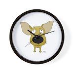 Big Nose Chihuahua Wall Clock